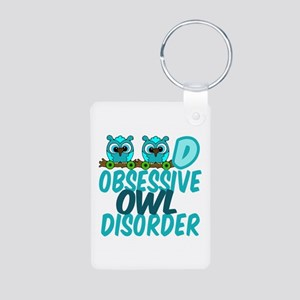 Pretty Owl Aluminum Photo Keychain