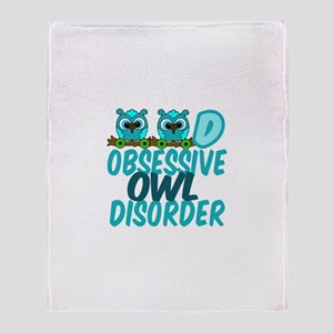 Pretty Owl Throw Blanket