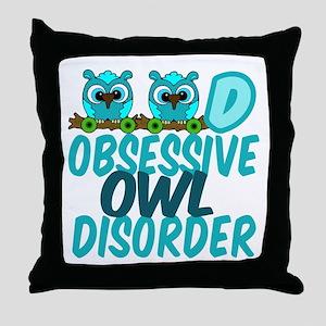 Pretty Owl Throw Pillow