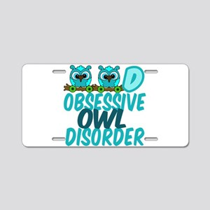 Pretty Owl Aluminum License Plate