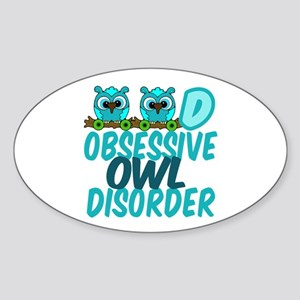 Cute Owl Sticker (Oval)