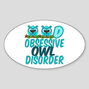 Pretty Owl Sticker (Oval)