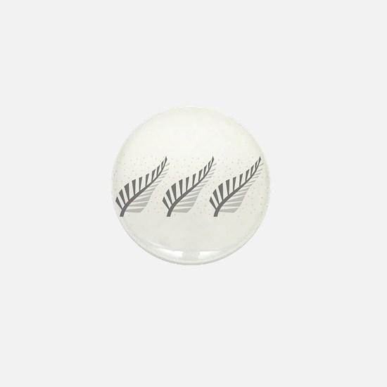 Three silver ferns Mini Button