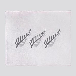 Three silver ferns Throw Blanket