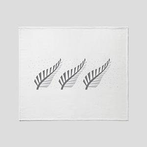 Three silver ferns Throw Blanket