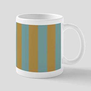 Summery Green Stripes Mugs