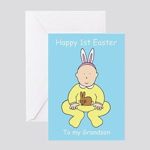 Happy First Easter for Grandson Greeting Cards