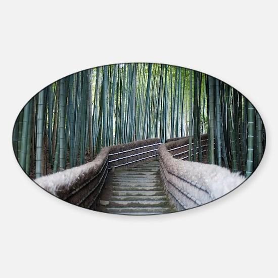 Bamboo Walk Sticker (Oval)