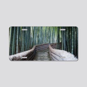 Bamboo Walk Aluminum License Plate