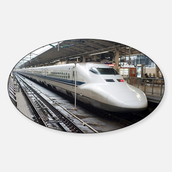 Bullet train Sticker (Oval)