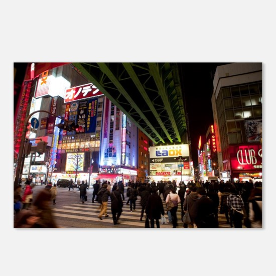 akihabara electric town Postcards (Package of 8)
