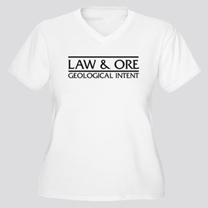 Law & Ore Geology Women's Plus Size V-Neck T-Shirt
