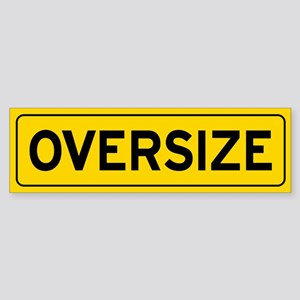 Oversize Load Sign Bumper Sticker
