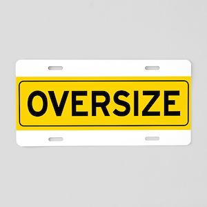 Oversize Load Sign Aluminum License Plate
