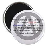 """Anarchy 2.25"""" Magnet (100 pack)"""