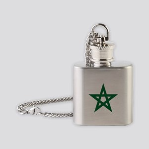 five pointed star Flask Necklace