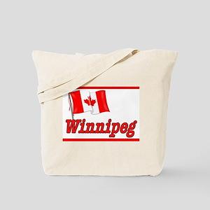 Canada Flag - Winnipeg Text Tote Bag