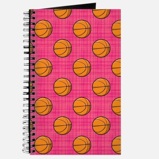 Bright Pink Basketball Pattern Journal