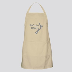 Shell be right with kiwi New Zealand Map Apron