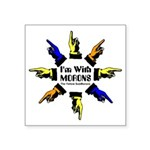 Imwithmorons-Yellow,blue,orange Sticker