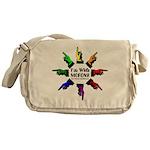 ImWithMorons-Rainbow Messenger Bag