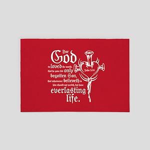 John 3:16 4' x 6' Rug