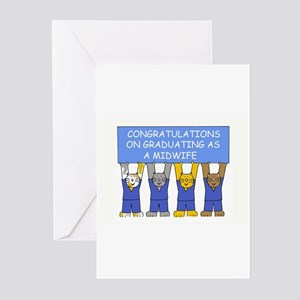 Midwife Graduate Congratulations. Greeting Cards
