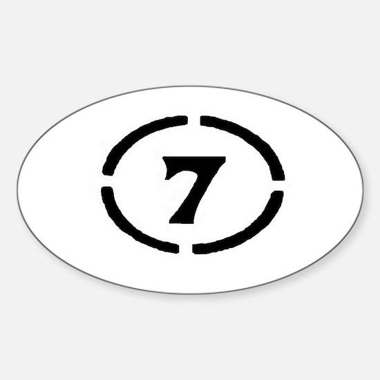 circle 7 black Decal