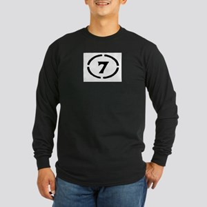 circle 7 black Long Sleeve T-Shirt