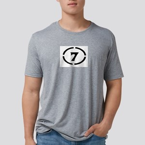 circle 7 black T-Shirt