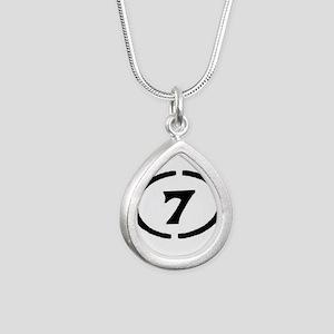 circle 7 black Necklaces