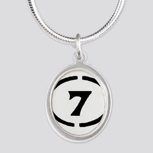 circle 7 black Necklaces