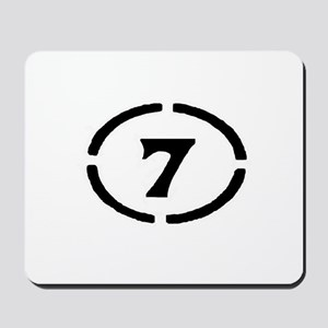 circle 7 black Mousepad