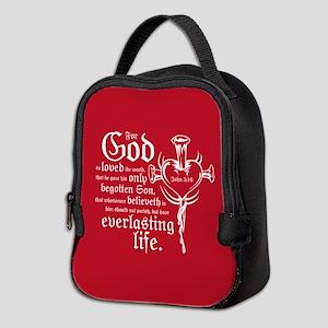 John 3:16 Neoprene Lunch Bag