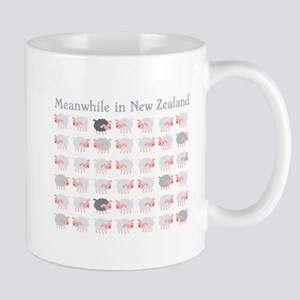 Meanwhile in New Zealand with flock many sheep Mug