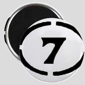 circle 7 black Magnets