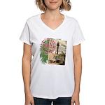 Sanibel 1884 Lighthouse -  Women's V-Neck T-Shirt