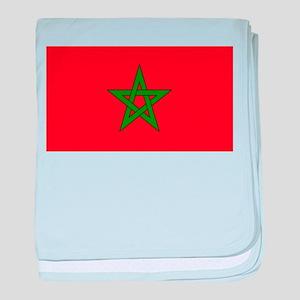 moorish flag, morocco glag, moroccan baby blanket