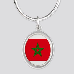 moorish flag, morocco glag, moroccan fla Necklaces