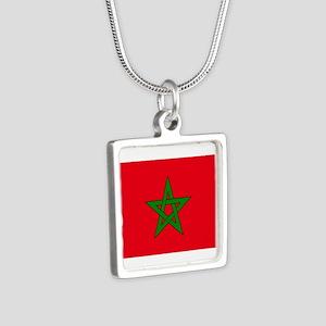 moorish flag, morocco glag, moroccan fla Necklaces
