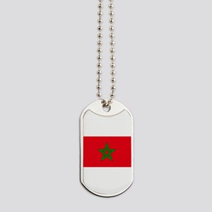 moorish flag, morocco glag, moroccan flag Dog Tags