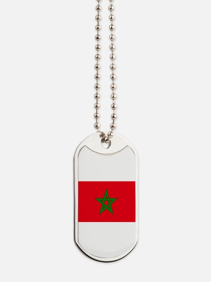 moorish flag, morocco glag, moroccan flag Dog Tags