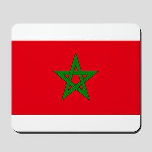 moorish flag, morocco glag, moroccan fla Mousepad