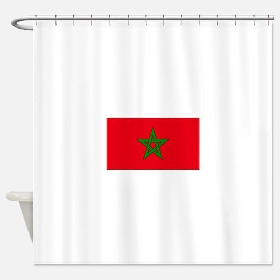 moorish flag, morocco glag, morocca Shower Curtain