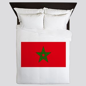 moorish flag, morocco glag, moroccan f Queen Duvet
