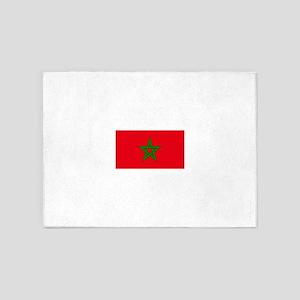 moorish flag, morocco glag, morocca 5'x7'Area Rug