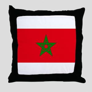 moorish flag, morocco glag, moroccan Throw Pillow