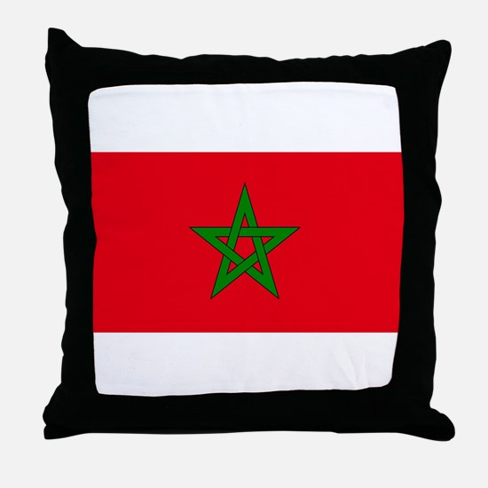 moorish flag, morocco glag, moroccan Throw Pillow
