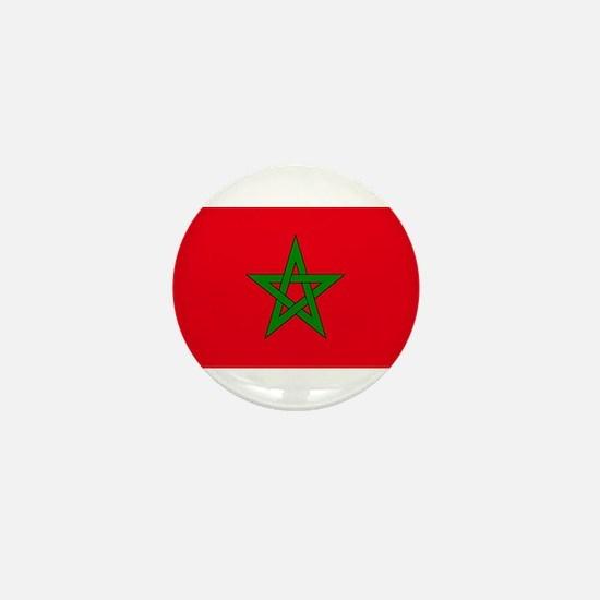 moorish flag, morocco glag, moroccan f Mini Button