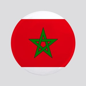 "moorish flag, morocco glag, moroccan f 3.5"" Button"